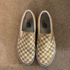 Gold Check Slipon Vans